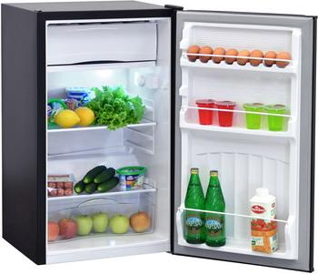 Однокамерный холодильник NordFrost, NR 403 B черный, Украина  - купить со скидкой