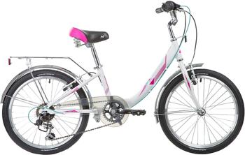 цена на Велосипед Novatrack 20'' ANCONA белый алюм. 6-скор TY21/RS35/SG-6SI V-brake