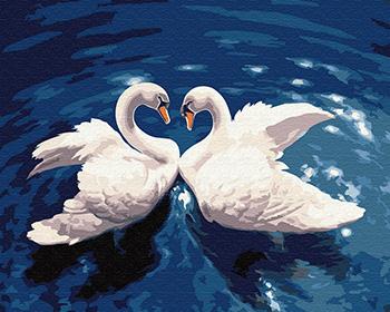 Картина по номерам ВанГогВоМне Два лебедя ZX 20180