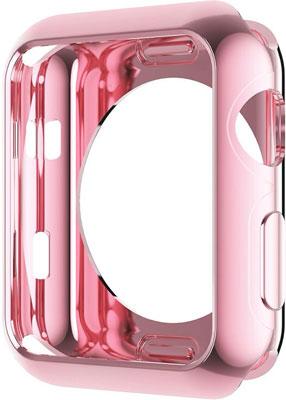 Чехол силиконовый Eva для Apple Watch 40mm - Розовый (AFC005P)