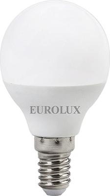 Лампа светодиодная Eurolux LL-E-G45-7W-230-2 7K-E14 (шар 7Вт тепл. Е14) белый патрон uniel ulh e14 ceramic для лампы керамический е14