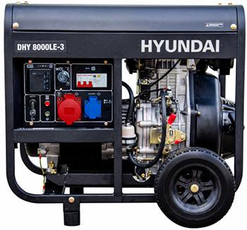 Электрический генератор и электростанция Hyundai DHY 8000LE-3 дизельэлектростанция hyundai dhy 6000le 5 5ква 4 4квт 220 в 7 ч дизель