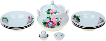 Набор для супа Добрушский фарфор ''Пион'' 10 пр. 2С0150 набор для супа добрушский фарфор пион 10 пр 2с0150