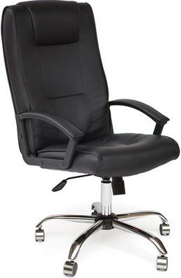 цена на Кресло Tetchair MAXIMA (хром кож/зам черный PU C 36-6)