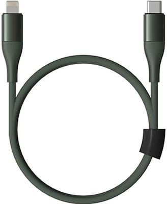 Фото - Кабель Coocazoo Type-C/Lightning 100 см 20W PD 3А нейлоновая ткань D3 8мм Защитный ЧИП (DW5 Green) техп кабель coocazoo type c type c 100 см 20w pd 3а нейлоновая ткань d3 8мм защитный чип dw3 green техпак
