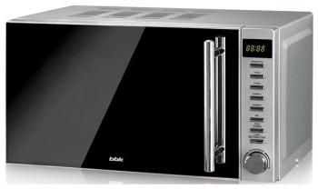 Микроволновая печь - СВЧ BBK 20 MWG-733 T/BS-M чёрный/серебро цена и фото