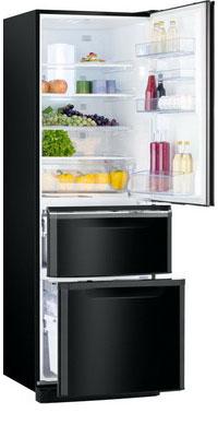 Многокамерный холодильник Mitsubishi Electric MR-CR 46 G-OB-R двухкамерный холодильник mitsubishi electric mr fr 51 h hs r