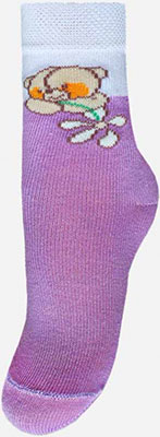 Носочки Брестский чулочный комбинат 14С3081 р.13-14 030 сиреневый сиреневый цв 14