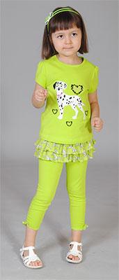Блузка и юбка-лосины Fleur de Vie Арт. 14-8960 рост 92 салат фото