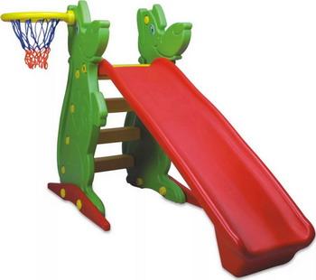 Пластиковая горка с баскетбольным кольцом King Kids KK_KS 9061 qiaoqiao с баскетбольным кольцом дино