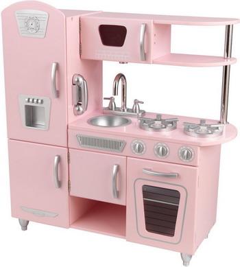 Деревянная кухня KidKraft Винтаж розовая 53179_KE