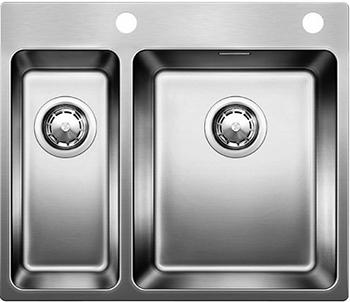 Кухонная мойка BLANCO ANDANO 340/180-IF-A нерж. сталь зеркальная полировка с клапаном-автоматом мойка кухонная blanco lantos 9e if полированная нерж сталь с клапаном автоматом 516277