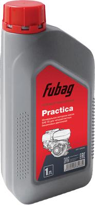 Масло моторное FUBAG минеральное для четырехтактных бензиновых двигателей 1 литр Practica (SAE 30) 838266
