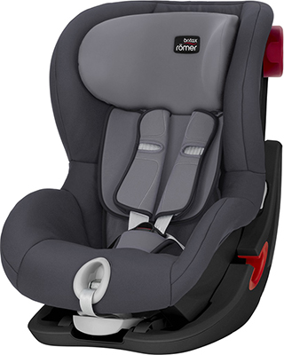 Автокресло Britax Roemer King II Black Series Storm Grey Trendline 2000027559 автокресло britax romer king ii black series wine rose trendline
