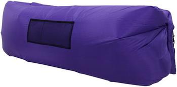 цена Лежак надувной Ламзак фиолетовый во3506 онлайн в 2017 году