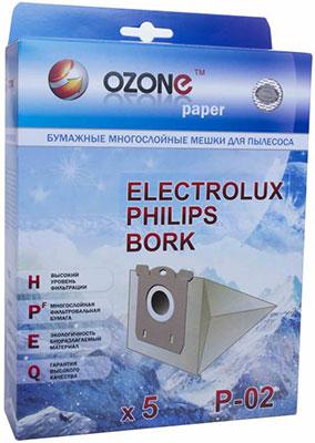 Мешки-пылесборники Ozone P-02 бумажные для пылесоса 5 шт