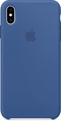 Чехол (клип-кейс) Apple Silicone Case для iPhone XS Max цвет (Delft Blue) голландский синий MVF62ZM/A
