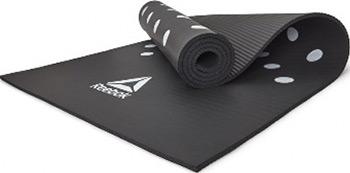Фото - Коврик для йоги и фитнеса Reebok Белые Пятна 7 мм черный RAMT-12235BK сумка reebok act enh work gymsack цвет черный cv5774
