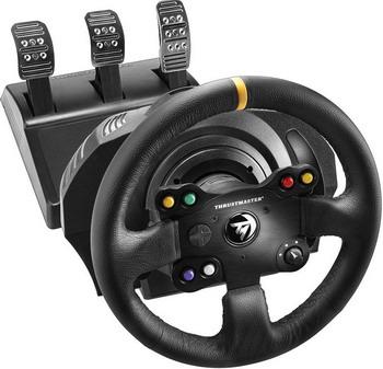 Руль Thrustmaster Xbox One/PC TX Racing Wheel Leather Edition (4460104) игровая приставка руль и педали к компьютеру цены
