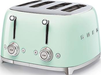 Тостер Smeg TSF03PGEU пастельный зеленый тостер на 4 ломтика smeg пастельный голубой tsf03pbeu