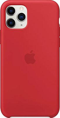 цена на Чехол силиконовый Apple Silicone Case для iPhone 11 Pro цвет (PRODUCT RED) красный MWYH2ZM/A