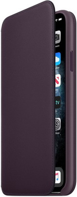 Чехол (флип-кейс) Apple, iPhone 11 Pro Max Leather Folio - Aubergine MX092ZM/A, Китай  - купить со скидкой