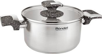Кастрюля Rondell с/кр Marmara RDS-999 24 см (5 1 л) кастрюля rondell edel 24 см 5 1 л нержавеющая сталь