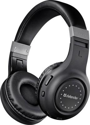 Фото - Беспроводные наушники Defender FreeMotion B551 черный Bluetooth (63551) комплект клавиатура мышь microsoft designer bluetooth desktop 7n9 00018 usb беспроводной черный