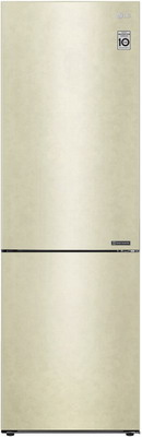 Двухкамерный холодильник LG GA-B 459 CECL Бежевый холодильник lg ga b379seql двухкамерный бежевый