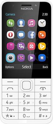 Мобильный телефон Nokia 230 DS (RM-1172) White Silver/серебристый
