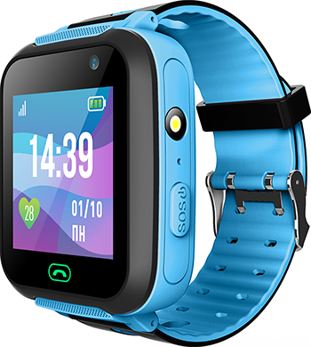 Детские часы с GPS поиском JET, KID SWIMMER голубой, Китай  - купить со скидкой