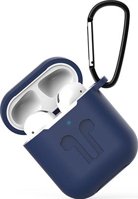 Фото - Чехол Eva для наушников Apple AirPods 1/2 с карабином - Темно-Синий (CBAP01DBL) сифон для душевого поддона unicorn easyopen с латунным выпуском 1 1 2 d40 с отводом g311e