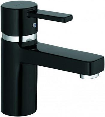Смеситель для ванной комнаты Kludi ZENTA для раковины  без донного клапана  черный/хром  арт. 382518675