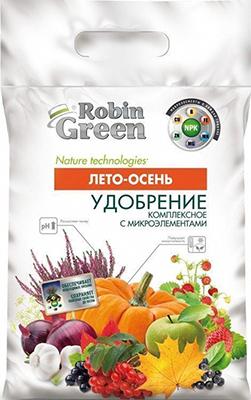 Удобрение сухое минеральное гранулированное Robin Green Лето-Осень 5 кг Уд0102ROB14