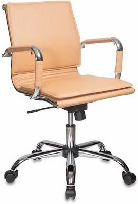 Фото - Кресло Бюрократ Ch-993-Low светло-коричневый искусственная кожа низк.спин. крестовина металл кресло бюрократ ch 605 черное искусственная кожа крестовина металл