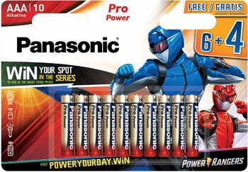 Батарейка Panasonic AAA Pro Power в блистере 10 шт. (6 и 4) (LR03XEG/10B4FPR) батарейки щелочные panasonic aa pro power в блистере 10 шт 6 и 4 lr6xeg 10b4fpr