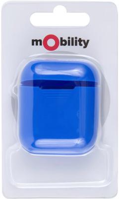 Фото - Силиконовый чехол mObility для зарядного кейса AirPods синий силиконовый чехол для samsung galaxy a80