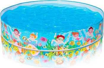 Надувной бассейн для купания Intex Летние деньки intex детский надувной бассейн зоопарк intex