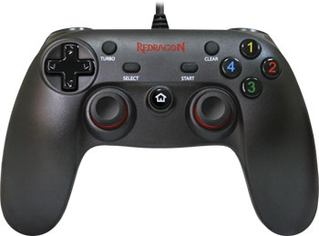 Геймпад Redragon Saturn USB Xinput-PS3 12кнопок 2стика (64225) геймпад redragon harrow usb xinput ps3 64230