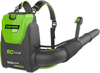 Воздуходувка Greenworks 60 V GD 60 BPB без аккумулятора и зарядного устройства 2402307 аккумуляторный кусторез greenworks 80 v digi pro gd 80 ht без аккумулятора и зарядного устройства 2200607