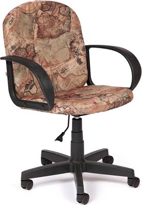 Офисное кресло Tetchair BAGGI (ткань принт ''Карта на бежевом'') цена