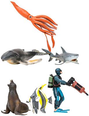 Набор фигурок животных Masai Mara ММ203-020 серии Мир морских животных