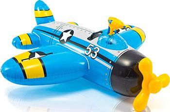 Самолет Intex 132х130 см с водным бластером от 3 лет надувная игрушка наездник intex краб 213х137см 57528