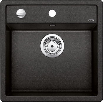 Кухонная мойка BLANCO DALAGO 5-F SILGRANIT антрацит с клапаном-автоматом кухонная мойка blanco dalago 5 f silgranit кофе с клапаном автоматом