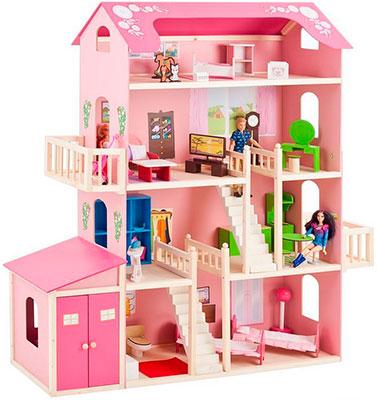 Кукольный дом Paremo PD 316-01 Барби Нежность (28 предметов мебели 2 лестницы гараж) набор мебели для барби paremo гардеробная