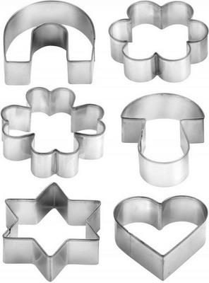 Форма для печенья Tescoma DELICIA 6шт 631380 трафареты для украшения tescoma delicia 6шт 630676
