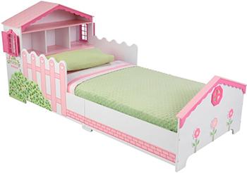 Детская кроватка KidKraft ''Кукольный домик'' с полочками 76255_KE детская кровать kidkraft детская кровать кукольный домик с полочками