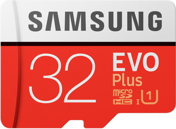 Фото - Карта памяти Samsung MicroSDHC 32 Гб class 10 UHS-I EVO+ с адаптером MB-MC 32 GA/RU карта памяти kingston canvas select plus microsdhc uhs i class 10 32gb с адаптером
