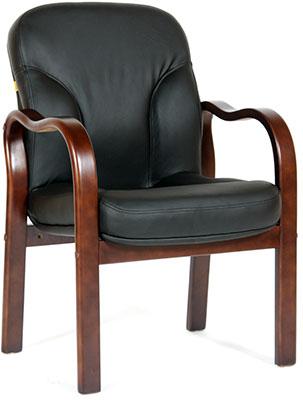 Офисное кресло Chairman 658 кожа черная