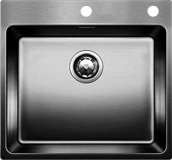 Кухонная мойка BLANCO ANDANO 500-IF-A нерж. сталь зеркальная полировка с клапаном-автоматом 522994 мойка кухонная blanco lantos 9e if полированная нерж сталь с клапаном автоматом 516277